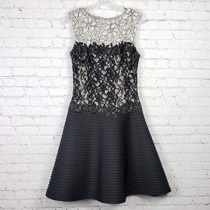 Tadashi Shoji Colorblock Lace Fit & Flare Dress 8
